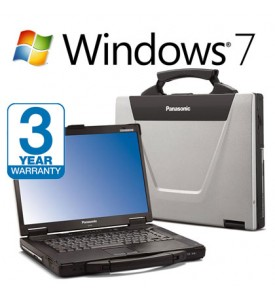 Panasonic Toughbook CF-52, 3 Year Warranty , 8GB RAM, 240GB SSD HardDrive, Intel i5, Serial, Wireless Laptop